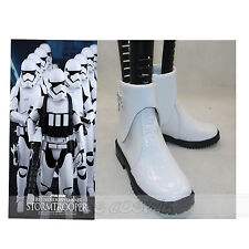 Movie Star Wars 7 White Soldier Cosplay Shoes Martin Boots Halloween Boot Shoe