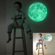 30cm Large Moon Glow in the Dark Removable Wall Stickers Moonlight Decoration
