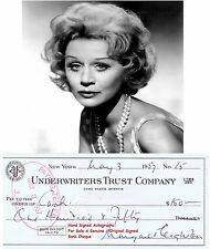 MARGARET LEIGHTON  FILM ACTRESS HAND SIGNED BANK CHEQUE / CHECK   1957 RARE ITEM