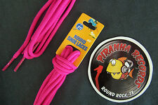"Hot Pink Thin Round 45"" x (1/8""- 3/8"") JN Shoelaces Shoe Strings Piranha Records"
