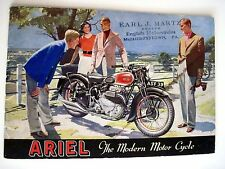 "Fantastic 1940 Advertising Catalog for ""Ariel Motorcycles"" w/ Great Pictures *"