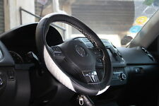 Leather Steering Wheel Cover 47011C Black+White for Mitsubishi Lancer Eclipse
