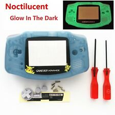 Night Light Noctilucent Pikachu Housing Shell for Game boy Advance - Clear Blue