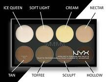 NYX Highlight & Contour Pro Palette Powders HCPP01 Refillable 8 Shades NEW