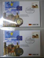 Deutschland Numisbriefe 5 x Michaeliskirche 2 EUR alle 5 Prägestätten im Album