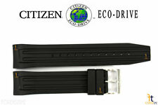 Citizen Eco-Drive S059551 Original Black Rubber Watch Band Strap S059542 AT0788