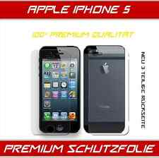 2 x Apple IPhone 5 Schutzfolie [ 2x Display + 2x  Rückseite] Displayschutz Folie