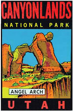 Canyonlands National Park   Angel Arch, UT  Vintage-Looking Travel Sticker/Decal