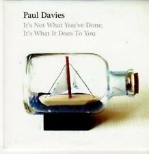 (BC658) Paul Davies, It's Not What You've Done- 2010 CD