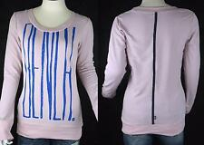 New Bench Abstract logo Women Cotton Sweatshirt long Pullover Dusty Pink Sz S