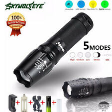 G700 LED 5000 Lumen Zoom Flashlight X800 Military Lumitact Torch + 18650&Charger