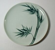 "3 Celadon China BAMBOO (no gold) 10-1/4"" Dinner Plates MINT"