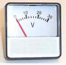 Voltmetro, 0 - 30v DC, PER BATTERIE, CELLE solari, generatore di HHO, Dry Fuel Cell ecc.