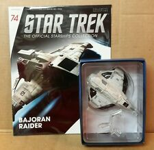 Star Trek Eaglemoss Bajoran Raider Shp Starship & magazine #74