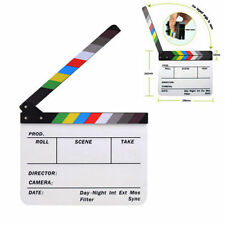 Clapboard Acrylic Dry Erase Director Film Movie Clapper Board Slate Color Sticks