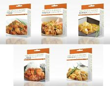 5 x Kits de Curry familiar, Korma, T-Masala, Vindaloo, + +