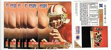 2X JOE MONTANA 1991 Pro Set #3 Player Of The Year 49ers Lot of 2 cards for .99