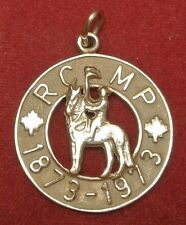 1873-1973 ROYAL CANADIAN MOUNTED POLICE RCMP 14KT Gold Pendant/Charm - 4.2 Grams