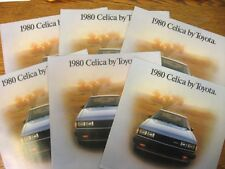 1980 Toyota Celica Dealer Sales Brochure LOT (6) pcs, GT ST Sport Coupe Liftback