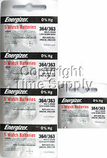 25 pcs 364 / 363 Energizer Watch Batteries SR621SW SR621 0% Hg