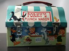 OLD 1959 Vintage Bugs Bunny Porky's Lunch Wagon dome metal Lunch Box Warner Bros