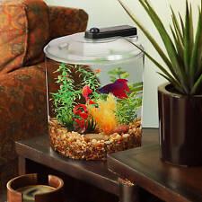 Aquarium Betta Kit LED Lighting Water Selectable Colors Tropical Fish 1.5 Gal