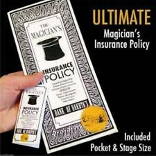 Ultimate Magician's Insurance Policy - Professional Version Street & Stage Sizes