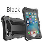 R-JUST Waterproof IP68 Diving Aluminum Metal Case Cover for iPhone 6 6S Black