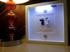 LED lit - Personalised Lego Mini Figure Wedding Picture Frame - Extra Large!