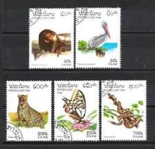 Animaux Faune sauvage Laos (99) série complète 5 timbres oblitérés