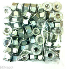 "JOB LOT OF 50 X 5/16"" TRACK NUTS NON SPIN SILVER, 25 PAIRS"