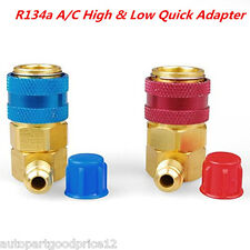 Car AC R134a A/C Manifold Gauge Conversion Kit High Low Angle Quick Adapter ACME