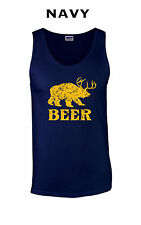 185 Beer Tank Top graphic bear wilderness drink drunk college funny cool awesome