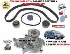 FOR HYUNDAI TRAJET 2.0i 2000- NEW WATER PUMP + TIMING CAM TENSIONER KIT COMPLETE