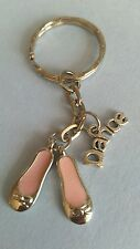 Ballet dancing & dance charm keychain, keyring, bag charm FAST & FREE DELIVERY