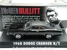 1:43 película original modelo steve mcqueen Bullitt 1968 Dodge Charger