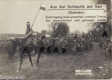 WW1 Russian Prisoners of War POWs escorted by German Uhlans 1914 ? Eastern Front