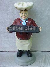 Figur Chef Koch Mit Tablett Werbeaufsteller Dekoration Reklame Skulptur Werbung