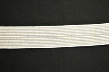 WHITE KNITTED ELASTIC POLYESTER ELASTANE RIBBON 99p PER METRE CLEARANCE ITEM