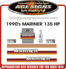 MARINER 135 hp DECALS MARATHON reproductions
