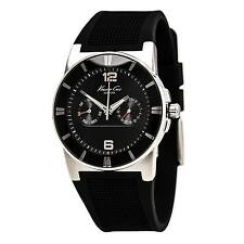 Kenneth Cole KC1405 Men's Black Dial Rubber Strap Quartz Watch