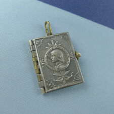 St Joan of Arc Life Book Pendant / Medal Silver Plated Locket