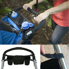 Universal Baby Stroller Pram Parent Console Organizer Tray Dual Cup Holder Buggy