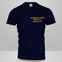 New Mens / Ladies Personalised Custom FRONT Printed Cotton Work Wear T-SHIRT Top