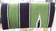 "WESTERN NAVAJO DESIGN SADDLE PAD 30""x30"" GREEN COLOR"