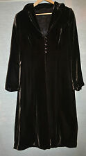 Per Una Silk Velvet Coat 8 R Dark Brown Marks & Spencer (S264)