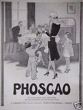 PUBLICITÉ 1930 PHOSCAO LE PLUS EXQUIS DES DÉJEUNERS - ARNOLD - ADVERTISING