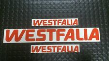 VW TYPE T25/T3/25/T2 WESTFALIA CAMPER STICKER DECAL SET