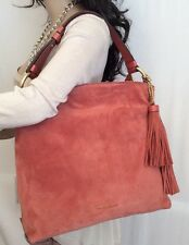 Michael Kors Elyse Large Suede Shoulder Hobo Bag CINNAMON Msrp 398.00 NEW
