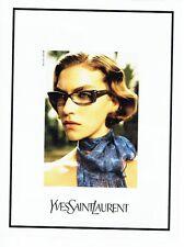 PUBLICITE ADVERTISING 126  2011  Yves Saint Laurent  lunettes